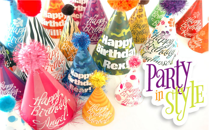 Customize Your Party Hat Choice Of Colors In Any 9 Fun Designs